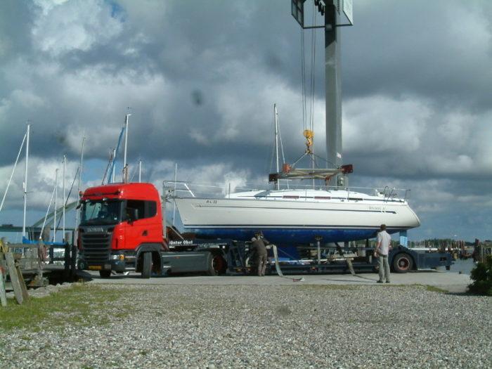 Bådtransport til Middelhavet